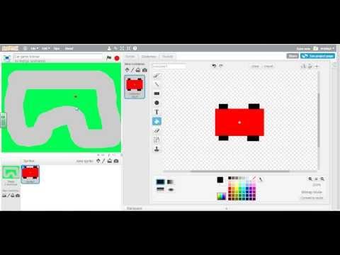 Scratch 2.0 Car Racing Game 1: Making sprites