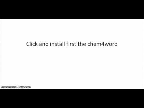 Video - How to type chemistry reactions & equations in MS Word?