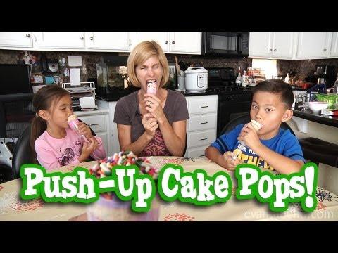 MommyTube Makes PUSH-UP CAKE POPS!