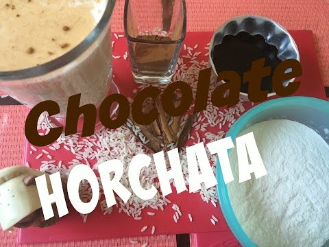 DIY- How To Make Chocolate Horchata (Rice Water) Flavored Water