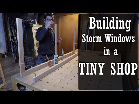Building storms windows in the shop/ mobile wood shop.