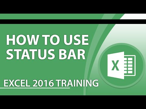 How to Use the Status Bar in Microsoft Excel 2016