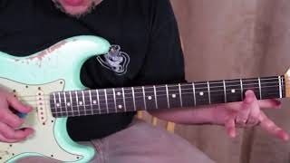 4 Must know SUPER SLOW 12 bar blues guitar tricks & licks