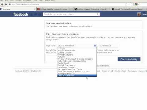 Setting Facebook Custom URL