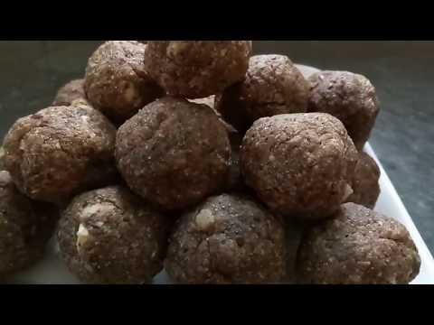 Healthy Flex seed ( Alsi ) Ladoo without Ghee & sugar / घी और चीनी बिना अलसी के पौष्टिक लडडू बनाये