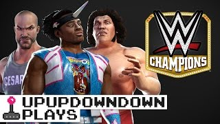 BAYLEY, CESARO, RICH SWANN and AUSTIN play WWE Champions!!! — UpUpDownDown Plays