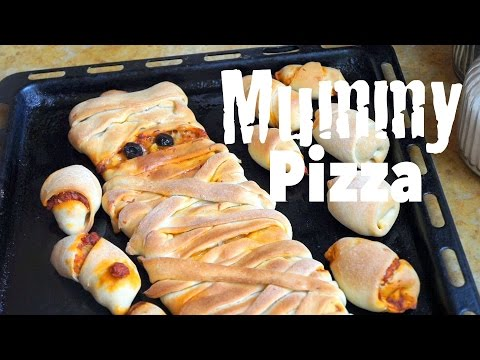 Halloween Recipes : Mummy Pizza Easy and FUN For Kids How to Make Mummy Pizza