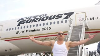 'Furious 7' 777 Airliner Unveiling