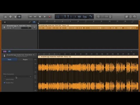 How To: Change pitch of a song in Garageband