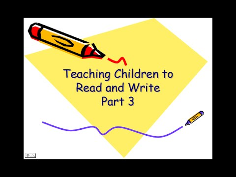 Teaching Children to Read and Write 3