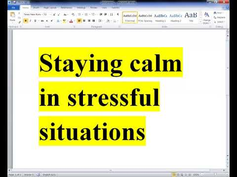 Staying Calm in Stressful Situations - Get the Life YOU Want