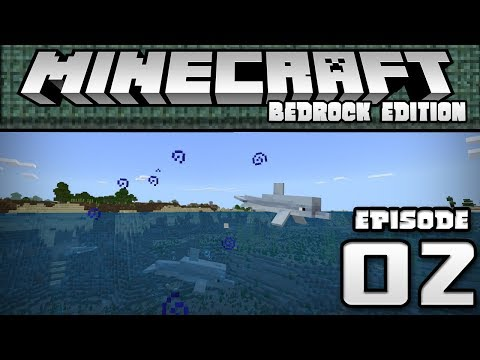 TREASURE CHEST, TRIDENT & NEW HOUSE!! - Let's Play Ep. 02 - Minecraft Bedrock Edition