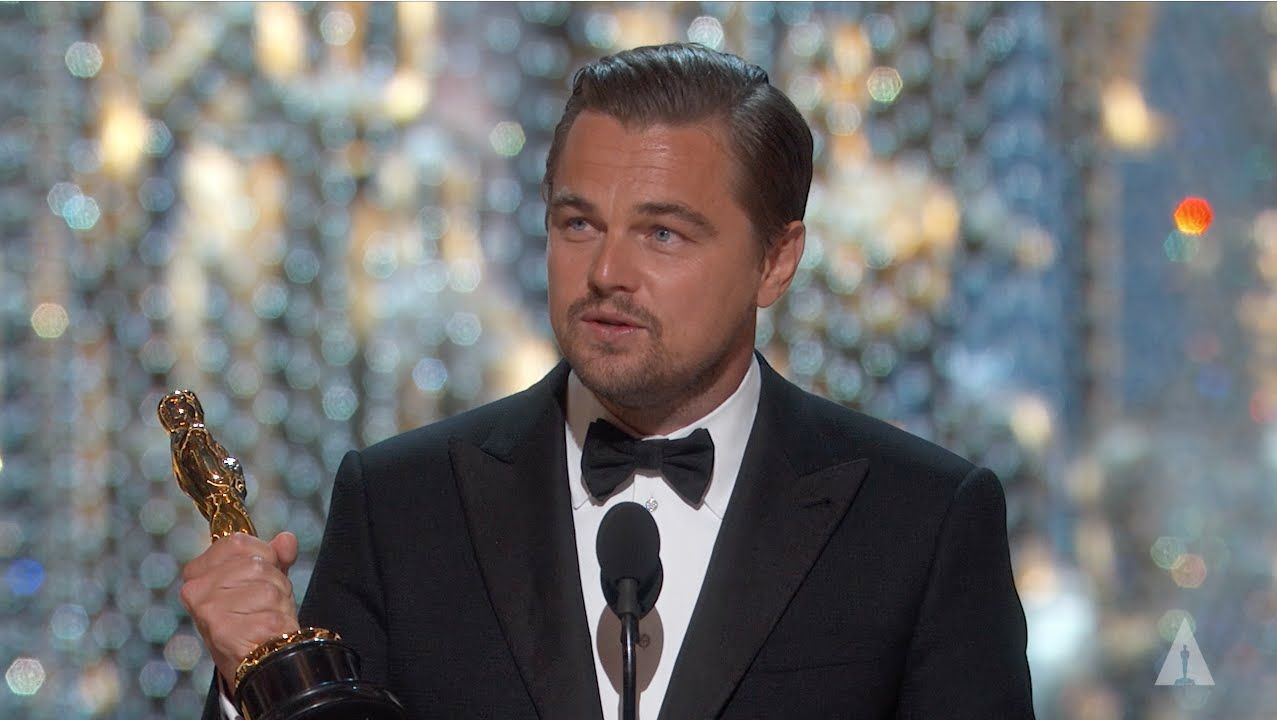 Leonardo DiCaprio winning Best Actor | 88th Oscars (2016)