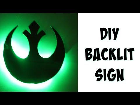 DIY Backlit Sign! | Nerdy Crafts Ep. 44