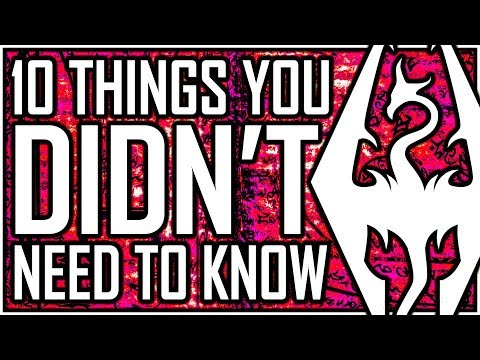 SKYRIM - 10 Things You DIDN'T Need To Know (but secretly need to know) - Mephala Is A Cupboard?