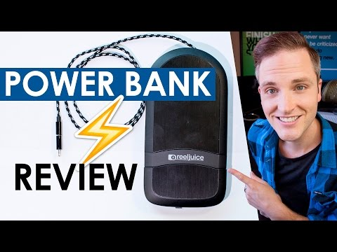 Best Power Bank Charger 2016 — Reeljuice 3X Portable Power Bank with Built In Cable