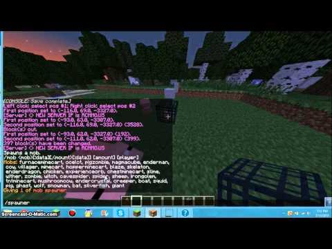 Minecraft How to Change Spawner types