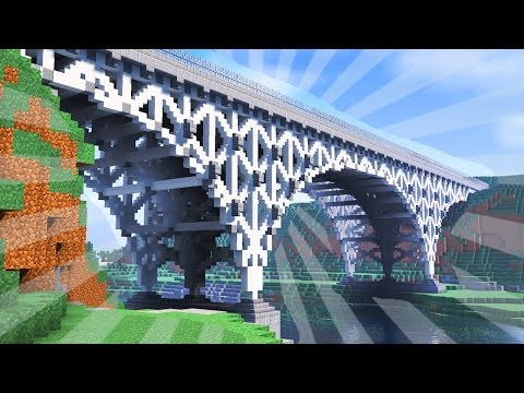 How To Build a STEEL BRIDGE in Minecraft (CREATIVE BUILDING)