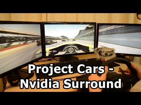 Project Cars - Nvidia Surround 3 Monitor Gameplay