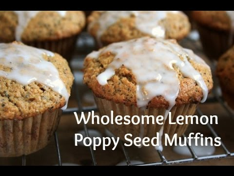 Wholesome Lemon Poppy Seed Muffins with Lemon Glaze
