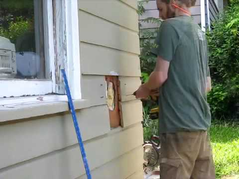 Patching a hole in the siding
