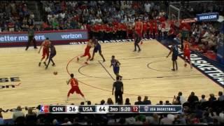 DeAndre Jordan SICK inbound alley-oop and block vs China! (USA Basketball 2016)