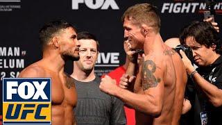 Dennis Bermudez vs. Darren Elkins face off | Weigh-in | UFC Fight Night