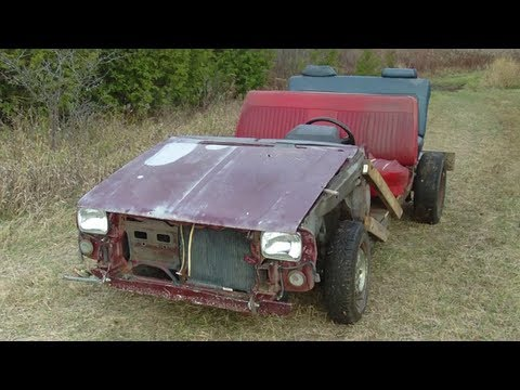Homemade Wooden Jeep Crossover start and drive