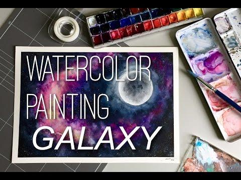 Watercolor Painting - Galaxy
