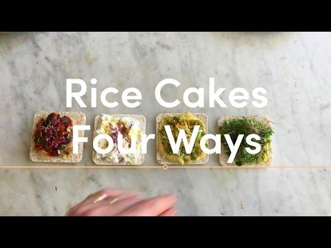 Healthy Snack Ideas: Rice Cakes Four Ways (Part 1)