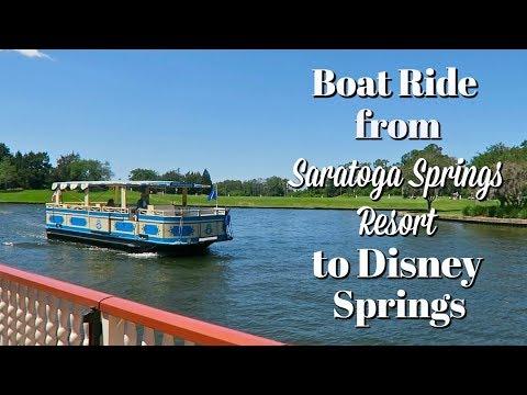 Boat ride from Saratoga Springs Resort to Disney Springs | Walt Disney World
