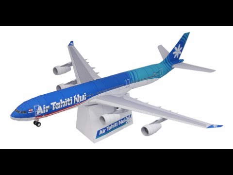 how to make a paper model of airplane