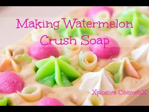 Making Watermelon Crush Soap