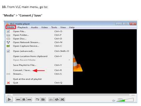 Rotate & Save a Video using VLC Media Player