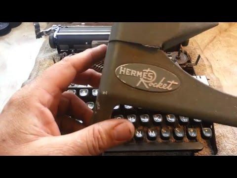 Typewriter service & cleaning of type slugs & basket