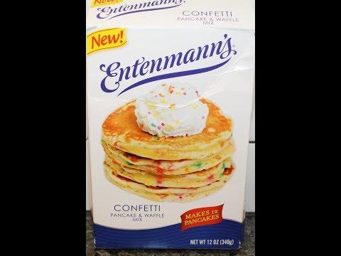 Entenmann's Confetti Pancake & Waffle Mix Preparation & Review