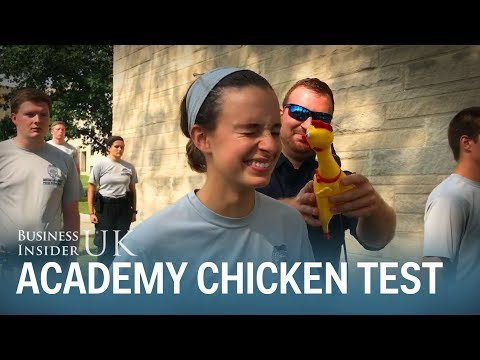 The Indiana Police is using a rubber chicken to test students' focus