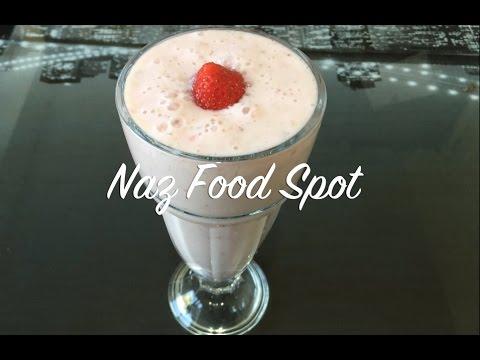 How to make Apple, banana and strawberry milkshake