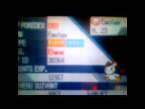 Pokémon Black/White : Shiny Emonga/Emolga NH LEGIT !