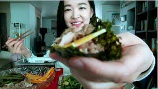 Download Easy Korean Kimbap Snack Mukbang/ 김밥 스낵 먹방 Video