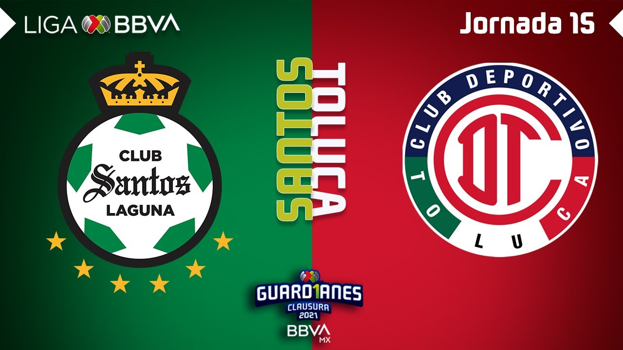Resumen y Goles   Santos vs Toluca   Liga BBVA MX - Guard1anes 2021 - Jornada 15