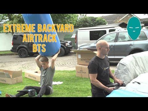 Extreme Backyard Airtrack BTS | Damien Walters