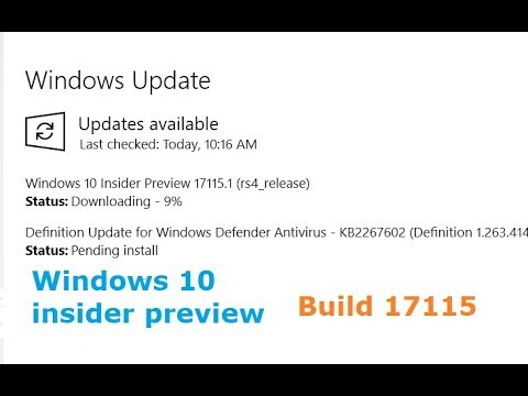 Windows Insider preview 17115.1 (rs4_release) is available to download in Windows Update