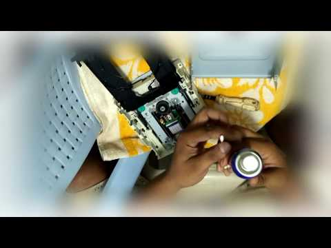 How to Repair DVD CD Writer With FOGG, clean DVD or CD Rom Lens with FOGG DIY