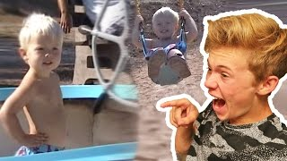 REACTING TO MY BABY VIDEOS!