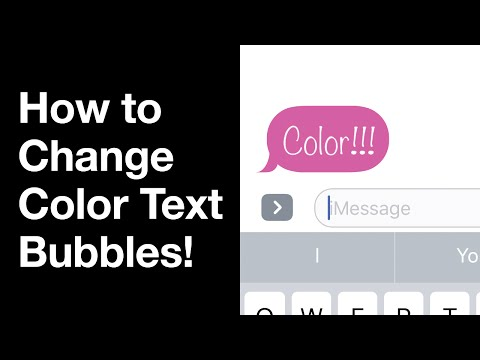 iOS 10: How to Change Color Text Bubbles for iMessage