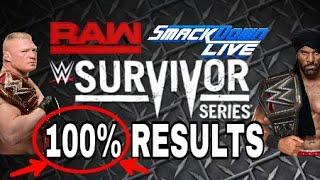 WWE Survivor Series 2017 Results Predictions