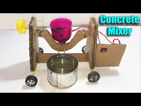 How to make a Concrete Mixer Machine DIY at Home - Life Hacks