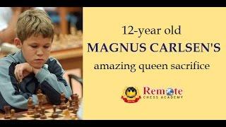 12-year old Magnus Carlsen's amazing queen sacrifice