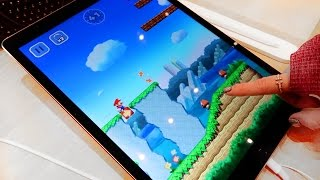 Super Mario Run demo at the Apple Store on an iPad Pro! | iJustine